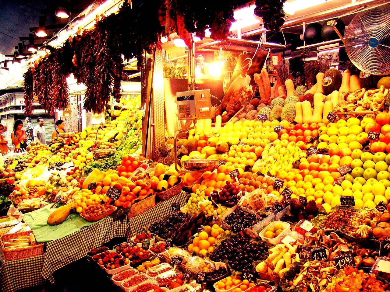 La ruta del mercado: La boquería por Victor J. Moreno
