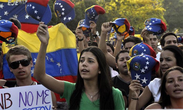 Resultado de imagen de jovenes venezolanos protestan