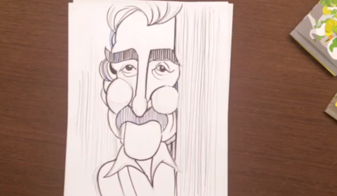 EDO en vivo: en esta ocasión Eduardo Sanabria nos regala la caricatura del artista Jesús Rafael Soto