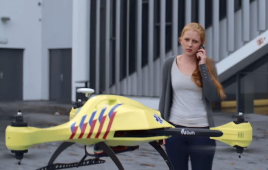 Fabrican el primer dron ambulancia
