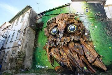 Con chatarra reciclada artista callejero crea increíble escultura (Fotos)