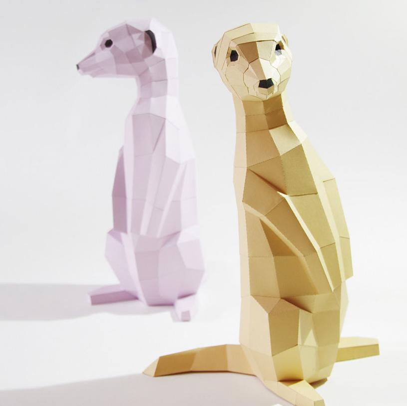 Esculturas Hechas Con Figuras Geométricas De Papel Fotos