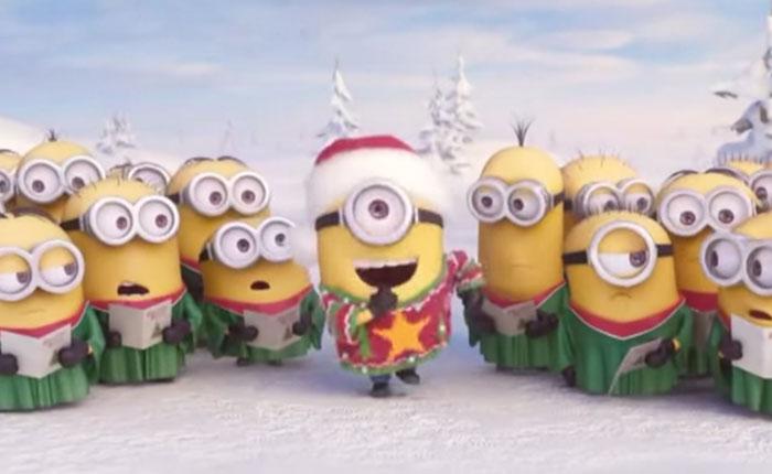 Los minions celebran Navidad cantando (Video)