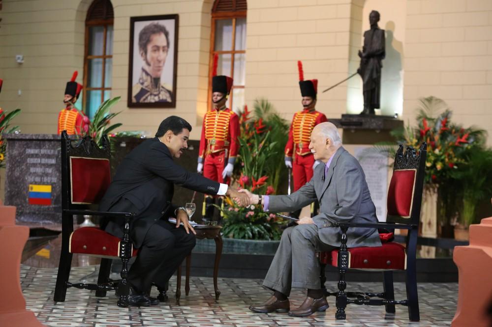 Nicolas Maduro y JV Rangel