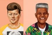 Líderes de la historia ilustrados como hipsters (Fotos)