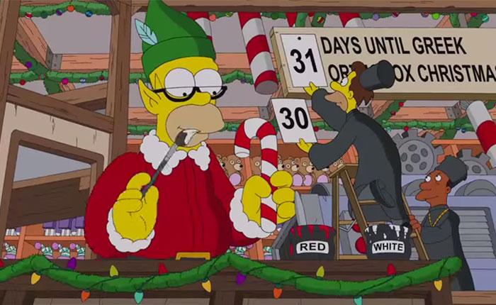 """""""Los Simpson"""" y el divertido intro de su episodio de Navidad (Video)"""