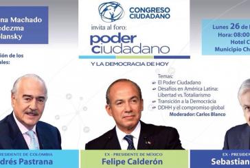 Así fue reseñado en Twitter el foro de Calderón, Pastrana y Piñera en Caracas