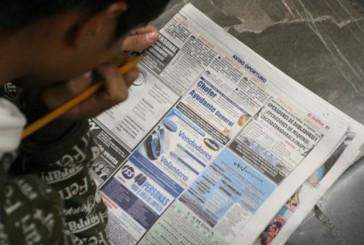 26,5% de la fuerza laboral juvenil del país está desempleada