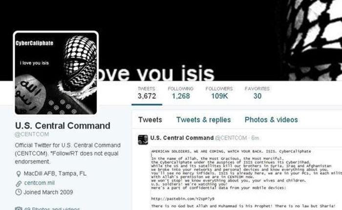 Atacan sitios en Twitter y YouTube del Comando Central de EEUU