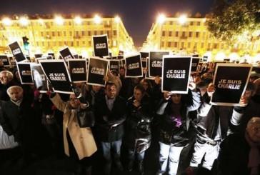 Multitudinarias protestas por ataque terrorista en todo París