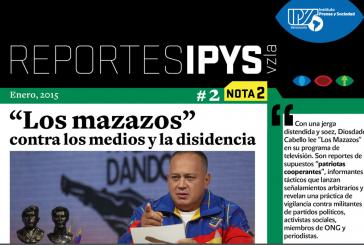 """IPYS: Diosdado Cabello criminaliza a medios y trabajadores en su programa """"Los mazazos"""""""