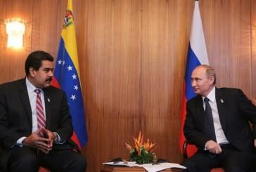 Maduro se reunirá con Vladimir Putin para combatir caída del precio del petróleo