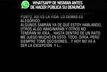 Este es el WhatsApp de Nisman antes de hacer pública su denuncia