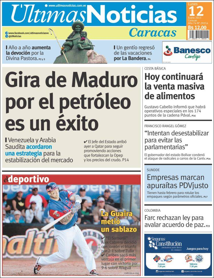 Redes sociales explotan con cr ticas a portadas de ltimas for Ultimas noticias de espectaculos internacionales