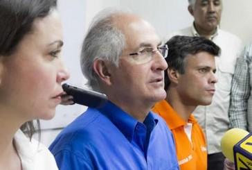"""López, Machado y Ledezma convocan a un """"Acuerdo Nacional para la Transición"""""""
