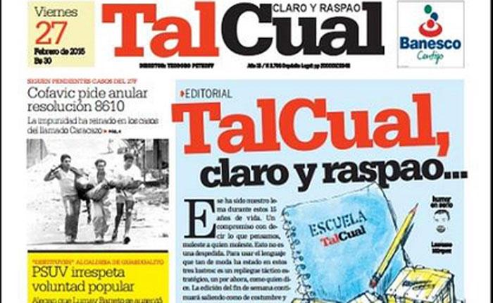 El diario opositor 'Tal Cual' es la última víctima del cerco a la prensa