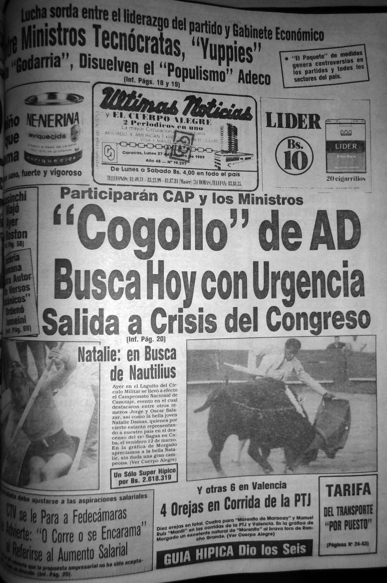 UN Lunes 27 febrero 1989