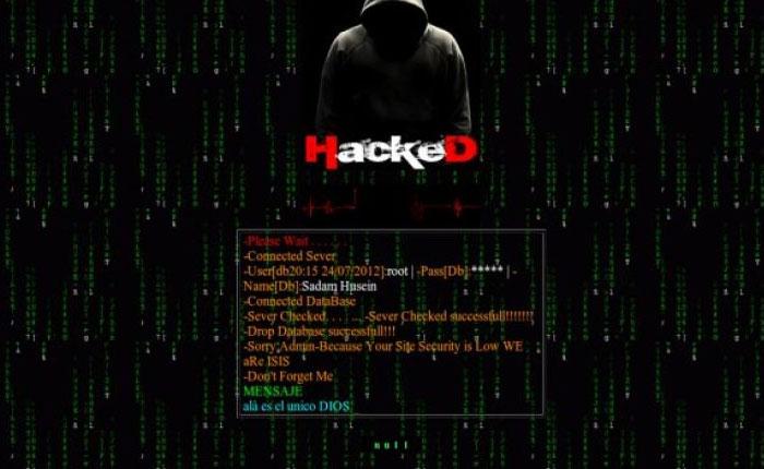 Estado isl mico habr a hackeado sitio web del ministerio for Pagina web ministerio interior
