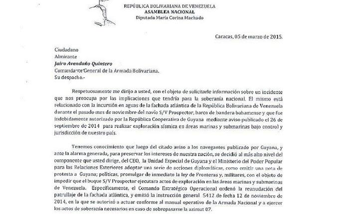 Maduro habría impedido acción de la Armada contra buque explorador que Guyana autorizó entrara en nuestras aguas