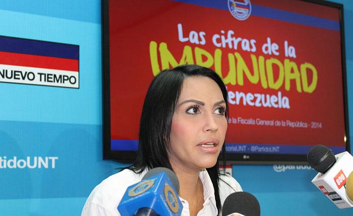 Delsa Solórzano: La impunidad en Venezuela supera el 98%