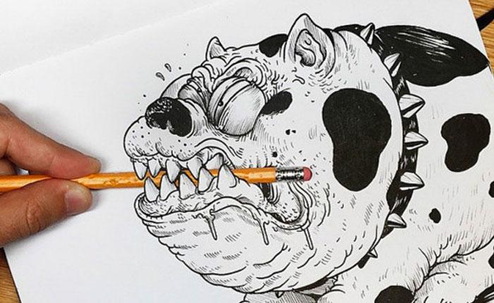 """Este es el caricaturista que """"pelea"""" con sus dibujos"""