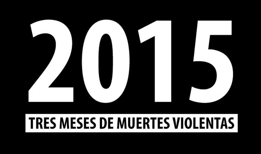 15 muertes violentas al día se registraron en Caracas el primer trimestre de 2015