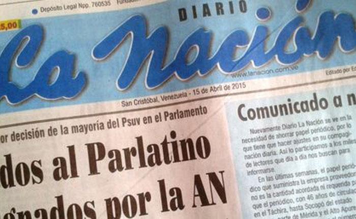 Diario La Nación anuncia más reajustes por falta de papel
