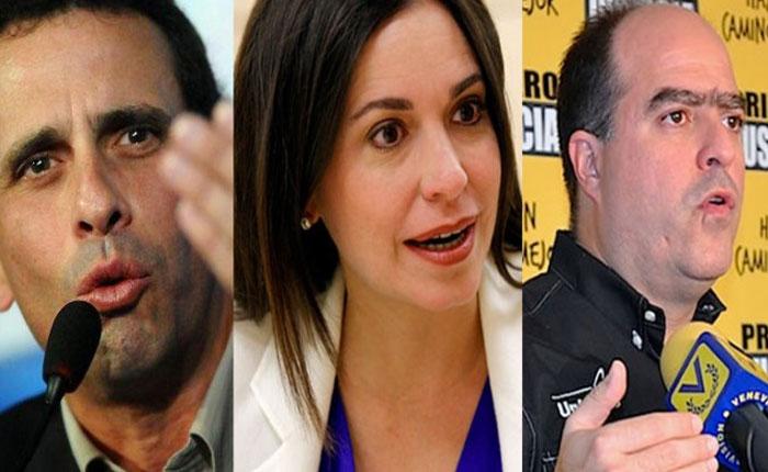 Capriles, Borges y Machado citados por inconsistencias en Declaración Jurada de Patrimonio