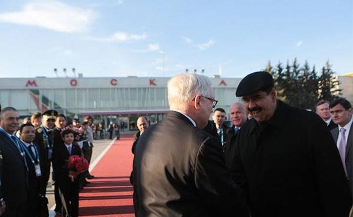 Nicolás Maduro llegó a Rusia