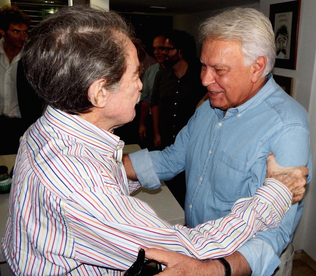 En Fotos: Así fue el encuentro entre Felipe González y Teodoro Petkoff por Saúl Uzcátegui