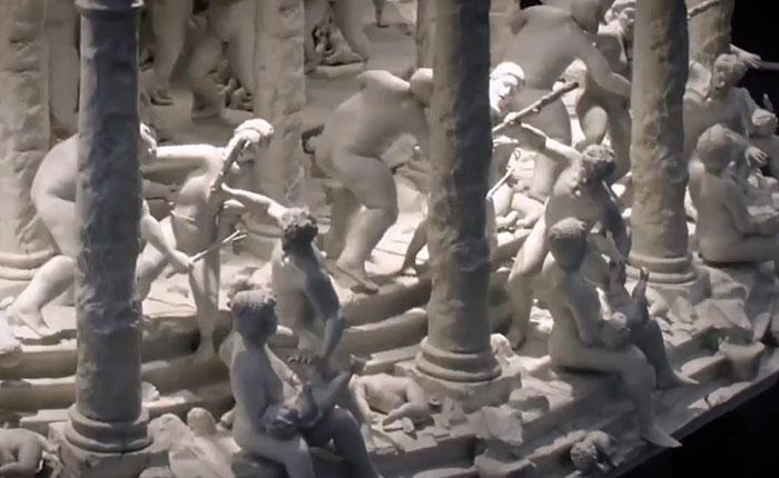 ¿Cómo convertir esculturas en obras vivientes de la vida real?