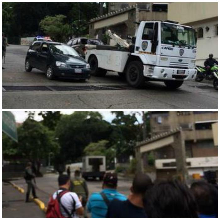 """Sale un cuarto vehículo recuperado de la Cota 905 y sube """"La jaula"""" de la PNB. Foto: @AdrianitaN"""