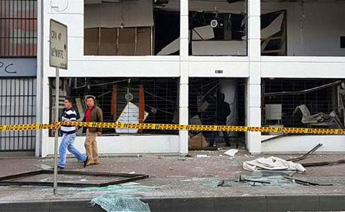 Autoridades investigan la explosión de dos bombas en Bogotá