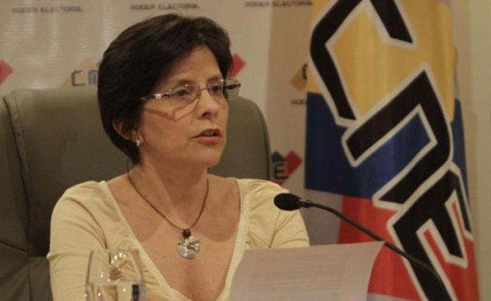Sandra Oblitas: El CNE no se deja presionar por ningún actor político