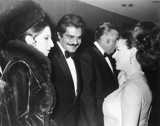 Princess Margaret, Barbara Streisand, Omar Sharif