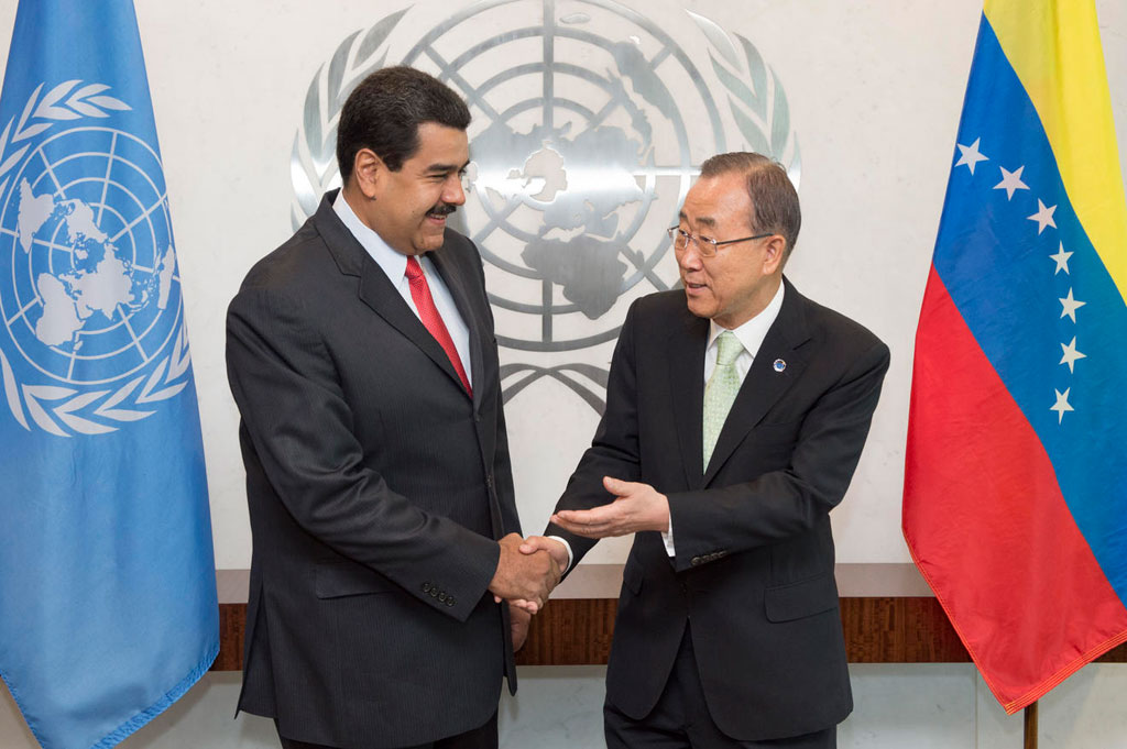 Secretary-General meets with President of  Bolivarian Republic of Venezuela.