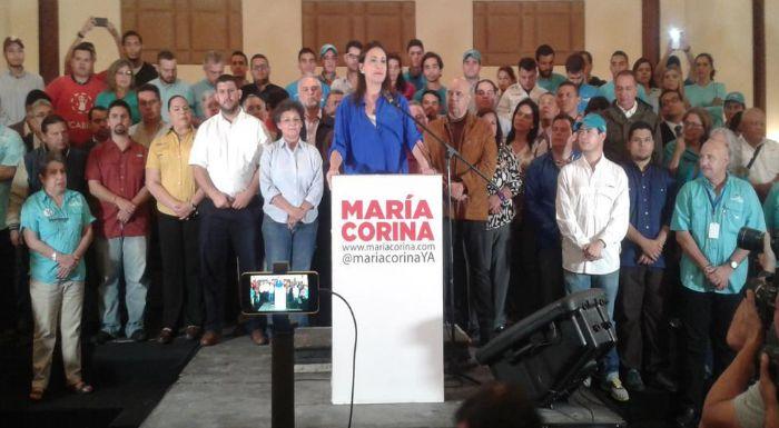 María Corina Machado: Me postularé como candidata a la Asamblea Nacional