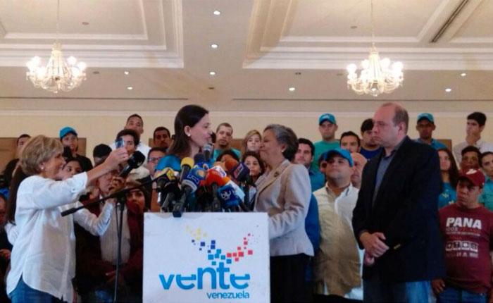 María Corina Machado: Por lealtad a Venezuela retiramos la postulación de Isabel Pereira