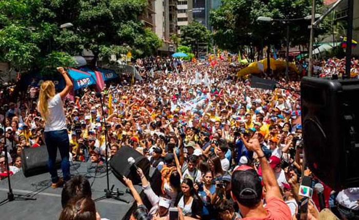#19S Oposición salió a la calle en apoyo a Leopoldo López y al cambio electoral