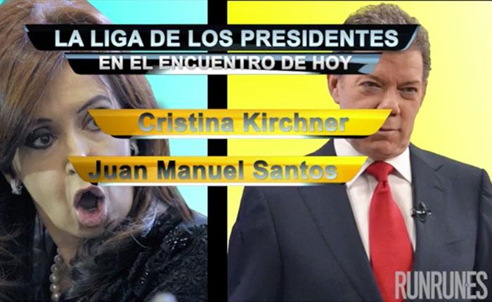 La Liga de los Presidentes: Kirchner vs Santos