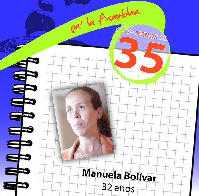 Candidata Manuela Bolívar propone reconstruir el país desde la Asamblea Nacional