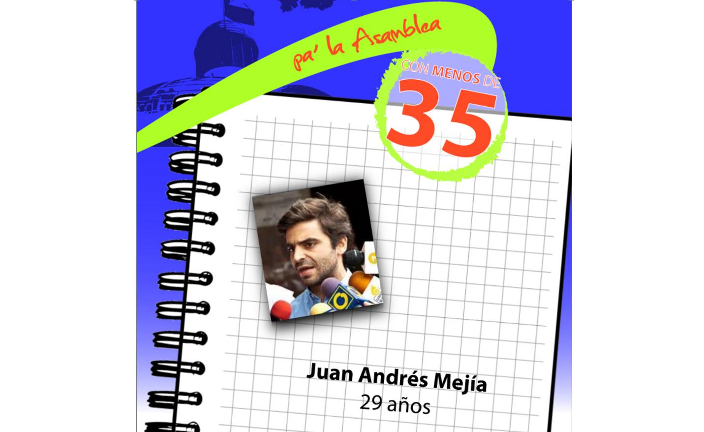 Juan Andrés Mejía abogará por más educación y apoyo al emprendimiento desde la Asamblea
