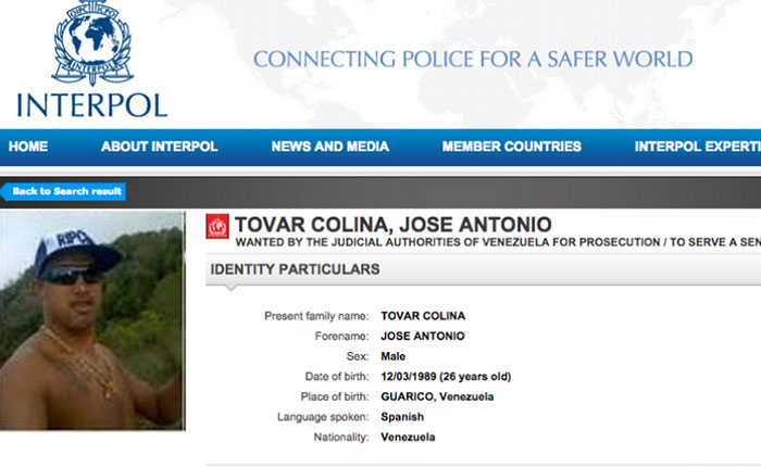 "Interpol emite alerta de captura contra ""El Picure"""