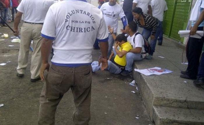 Grupos armados atacaron concentración de la MUD en Bolívar