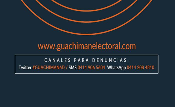 Un Guachimán ciudadano verificará denuncias el 6D