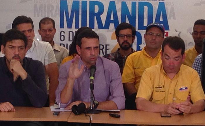Capriles: El cambio ganó en 17 estados