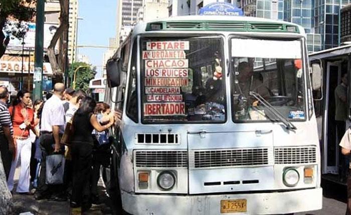 Sector transporte de Caracas se declaró en emergencia