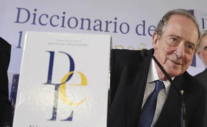 El director de la Real Academia de la Lengua Española (RAE), José Manuel Blecua