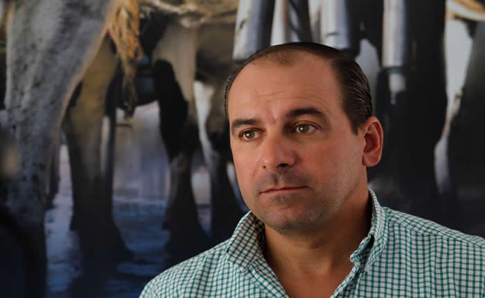 El presidente de la Asociación Nacional de Productores de Leche de Uruguay, Rodolfo Braga