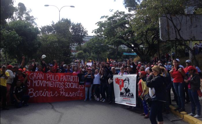 Colectivo La Piedrita estuvo silencioso en el paso a paso de la marcha oficialista